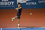 Sho Shimabukuro (JPN), <br /> AUGUST 20, 2018 - Tennis : <br /> Men's Doubles Round of 32<br /> at Jakabaring Sport Center Tennis Court <br /> during the 2018 Jakarta Palembang Asian Games <br /> in Palembang, Indonesia. <br /> (Photo by Yohei Osada/AFLO SPORT)