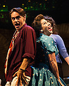 London, UK. 16.05.2014. Theatre Royal Stratford East presents FINGS AIN'T WOT THEY USED T'BE, starring Jessie Wallace, Gary Kemp and Mark Arden. Directored by Terry Johnson, with book by Frank Norman and Music & Lyrics by Lionel Bart. Picture shows: Ryan Molloy and Jessie Wallace. Photograph © Jane Hobson.