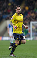 Chris Maguire of Oxford United in action during the Sky Bet League 2 match between Oxford United and Bristol Rovers at the Kassam Stadium, Oxford, England on 17 January 2016. Photo by Andy Rowland / PRiME Media Images.