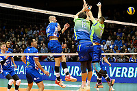 GRONINGEN - Volleybal, Lycurgus - Fino Kaposvar, Challenge Cup, seizoen 2019-2020, 19-12-2019,  smash Lycurgus speler Dennis Borst