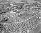 GBBY 45F/4388:  Football Game - Notre Dame vs. Purdue, 1946/1012.  Aerial view of campus and the Stadium.  Image from the University of Notre Dame Archives.