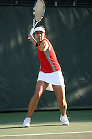 STANFORD, CA - FEBRUARY 19:  Jessica Nguyen of the Stanford Cardinal during Stanford's 5-2 win over the St. Mary's Gaels on February 19, 2009 at the Taube Family Tennis Stadium in Stanford, California.