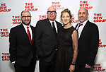 Adam Bernstein, Serge Nivelle, Edie Falco and Scott Elliott during the New Group Annual Gala at Tribeca Rooftop on March 11, 2019 in New York City.
