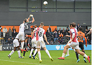 Craig Ross Of Woking Punches a cross clear during Barnet vs Woking, Vanarama National League Football at the Hive Stadium on 12th October 2019
