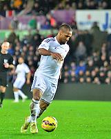 swansea...sport..swansea v aston villa...friday 26th december 2014...<br /> <br /> <br /> <br /> Swansea's Wayne Routledge on the ball
