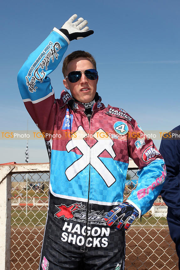Rob Mear of Lakeside Hammers - Lakeside Hammers vs Eastbourne Eagles - Sky Sports Elite League Speedway at Arena Essex Raceway, Purfleet - 06/04/12 - MANDATORY CREDIT: Gavin Ellis/TGSPHOTO - Self billing applies where appropriate - 0845 094 6026 - contact@tgsphoto.co.uk - NO UNPAID USE.