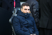 17th March 2018, Liberty Stadium, Swansea, Wales; FA Cup football, quarter-final, Swansea City versus Tottenham Hotspur; Carlos Carvalhal, Manager of Swansea City takes his seat before kickoff