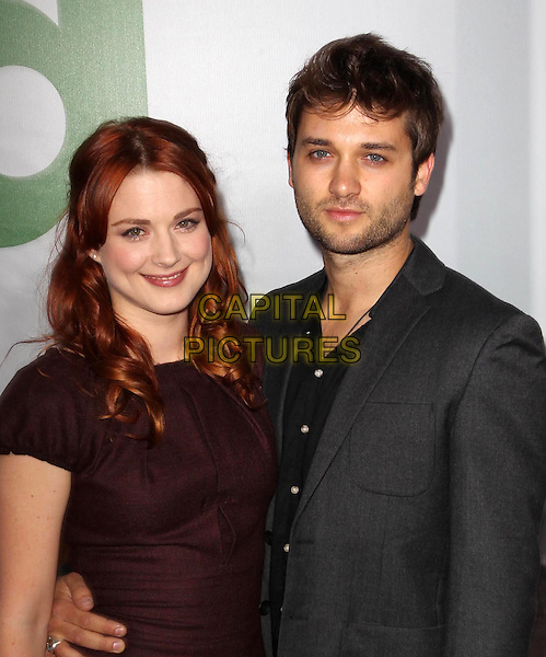 Alexandra Breckenridge & guest.The L.A. Premiere of 'Ted' held at The Grauman's Chinese Theatre in Hollywood, California, USA..June 21st, 2012.half length dress   black brown arm around waist stubble facial hair grey gray.CAP/ADM/KB.©Kevan Brooks/AdMedia/Capital Pictures.
