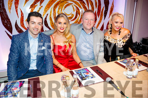 Judges Aidan O'Mahony, Nicole McEllistrim, Dave Allman and Sandra Breen at Ballymac Strictly Come Dancing, at Ballygarry House Hotel & Spa, Tralee, on Saturday night