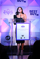 LOS ANGELES, CA - NOVEMBER 8: Gina Rodriguez, at the Eva Longoria Foundation Dinner Gala honoring Zoe Saldana and Gina Rodriguez at The Four Seasons Beverly Hills in Los Angeles, California on November 8, 2018. Credit: Faye Sadou/MediaPunch
