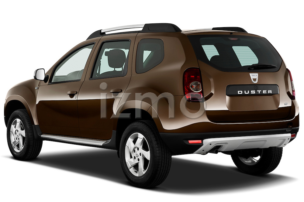 Rear three quarter view of a 2010 Dacia Duster 4 Door SUV