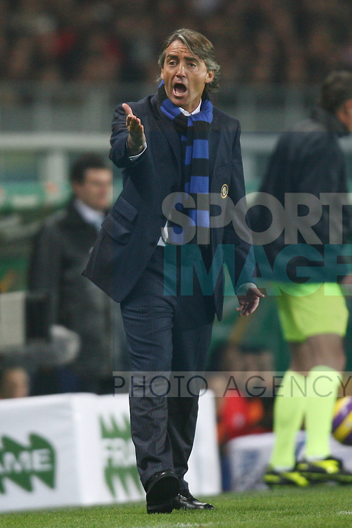Roberto Mancini manager of Inter Milan