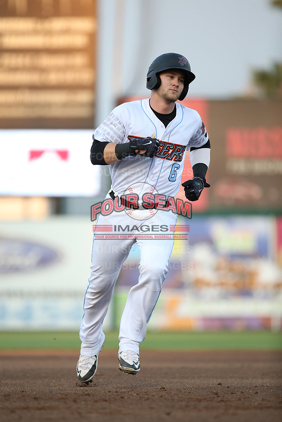 Taylor Ward (6) of the Inland Empire 66ers runs the bases during a game against the Modesto Nuts at San Manuel Stadium on June 2, 2017 in San Bernardino, California. Inland Empire defeated Modesto, 7-2. (Larry Goren/Four Seam Images)