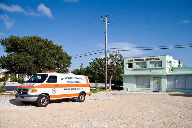 The Turtle Hospital and ambulance in Marathon, Florida.