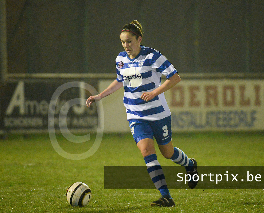 20140326 - AALTER , BELGIUM : Gent Elien Van Wynendaele pictured during the soccer match between the women teams of Club Brugge Vrouwen  and AA Gent  Ladies , on the 21th matchday of the BeNeleague competition Friday 14 March 2014 in Aalter. PHOTO DAVID CATRY