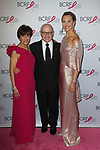 "L-R Myra Biblowit, Dr. Larry Norton and Kinga Lampert attend The Breast Cancer Research Foundation ""Super Nova"" Hot Pink Party on May 12, 2017 at the Park Avenue Armory in New York City."
