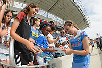 Bridgeview, IL - Sunday June 04, 2017: Fans, Katie Naughton during a regular season National Women's Soccer League (NWSL) match between the Chicago Red Stars and the Seattle Reign FC at Toyota Park. The Red Stars won 1-0.