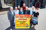 INVITATION: Members of the public are invited to St John's Church, Tralee, to take part in the Sacred Heart Novena from June 15th to 23rd. Pictured l-r were: Fr Tadhg Fitzgerald, Bill Looney, Fr Bernard Healy, Ann O'Shea Daly, Conor Fitzgerald, Fr Seamus Linnane, Denis Kelleher and Norma Foley.