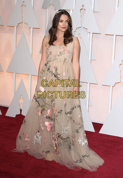 22 February 2015 - Hollywood, California - Keira Knightley. 87th Annual Academy Awards presented by the Academy of Motion Picture Arts and Sciences held at the Dolby Theatre. <br /> CAP/ADM<br /> &copy;AdMedia/Capital Pictures Oscars