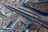 A Classification yard is pictured in Quebec city in this aerial photo November 11, 2009.