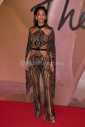 Nicole Scherzinger<br /> The Fashion Awards 2016 , arrivals at the Royal Albert Hall, London, England on December 05 2016.<br /> CAP/PL<br /> ©Phil Loftus/Capital Pictures /MediaPunch ***NORTH AND SOUTH AMERICAS ONLY***