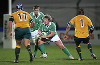 Ireland flanker Jason Harris-Wright on the attack during the second half of the Division A U19 World Championship clash at Ravenhill.