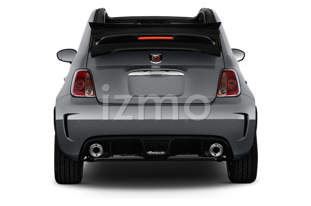 Straight rear view of a 2014 Fiat 500c Abarth Cabrio 2 Door Convertible