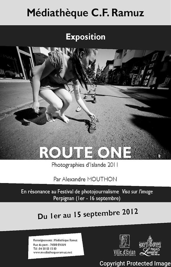 """Exposition Islande """"Route One"""" à Evian-Les-Bains, 2012."""