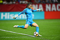 New Orleans, LA - Thursday October 19, 2017: Kang Gaae during an International friendly match between the Women's National teams of the United States (USA) and South Korea (KOR) at Mercedes Benz Superdome.