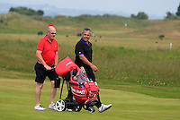 Pat Murray (Limerick) and his local caddy Michael McCabe on the 2nd during Round 4 of the East of Ireland Amateur Open Championship sponsored by City North Hotel at Co. Louth Golf club in Baltray on Monday 6th June 2016.<br /> Photo by: Golffile   Thos Caffrey