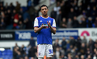 Ipswich Town's Myles Kenlock applauds the fans at the final whistle <br /> <br /> Photographer Hannah Fountain/CameraSport<br /> <br /> The EFL Sky Bet Championship - Ipswich Town v Nottingham Forest - Saturday 16th March 2019 - Portman Road - Ipswich<br /> <br /> World Copyright &copy; 2019 CameraSport. All rights reserved. 43 Linden Ave. Countesthorpe. Leicester. England. LE8 5PG - Tel: +44 (0) 116 277 4147 - admin@camerasport.com - www.camerasport.com
