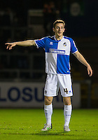 Tom Lockyer of Bristol Rovers during the Sky Bet League 2 rearranged match between Bristol Rovers and Wycombe Wanderers at the Memorial Stadium, Bristol, England on 1 December 2015. Photo by Andy Rowland.