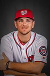22 February 2019: Washington Nationals pitcher Wil Crowe poses for his Photo Day portrait at the Ballpark of the Palm Beaches in West Palm Beach, Florida. Mandatory Credit: Ed Wolfstein Photo *** RAW (NEF) Image File Available ***