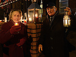 Maeve Healy and Paddy Smith representing Drogheda Cenior Citizens who took part in the candlelight ceremony at the Cottage hospital. Photo:Colin Bell/pressphotos.ie