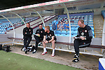 Management team relaxed before kick off during the English League One match at Glanford Park Stadium, Scunthorpe. Picture date: September 24th, 2016. Pic Simon Bellis/Sportimage