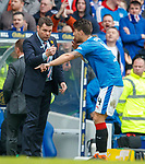 11.3.2018 Rangers v Celtic:<br /> Graeme Murty and Fabio Cardoso