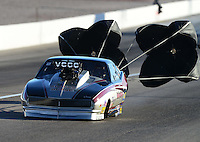 Oct. 26, 2012; Las Vegas, NV, USA: NHRA pro mod driver Danny Rowe during qualifying for the Big O Tires Nationals at The Strip in Las Vegas. Mandatory Credit: Mark J. Rebilas-