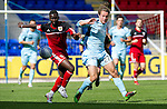 St Johnstone v Bristol City....28.07.12  Pre-Season Friendly.Yannick Bolasie battles with Stevie May.Picture by Graeme Hart..Copyright Perthshire Picture Agency.Tel: 01738 623350  Mobile: 07990 594431