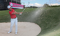 Edouardo Molinari (ITA) in one of the pot bunkers during the preview of the Tshwane Open 2015 at the Pretoria Country Club, Waterkloof, Pretoria, South Africa. Picture:  David Lloyd / www.golffile.ie. 10/03/2015