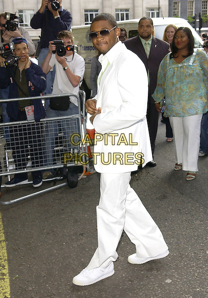 USHER.Attends the Glamour Women of the Year Awards 2005,.Berkeley Square, London, .June 7th 2005..full length white suit sunglasses.Ref: FIN.www.capitalpictures.com.sales@capitalpictures.com.©Steve Finn/Capital Pictures.