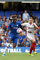 Tammy Abraham of Chelsea shapes to shoot during the Premier League match between Chelsea and Sheff United at Stamford Bridge, London, England on 31 August 2019. Photo by Carlton Myrie / PRiME Media Images.