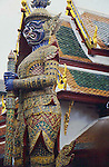 KHON GUARDING TEMPLE AT GRAND PALACE BANGKOK