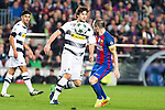 VfL Borussia Monchengladbach's Tobias Strobl, FC Barcelona's Andres Iniesta during Champions League match between Futbol Club Barcelona and VfL Borussia Mönchengladbach  at Camp Nou Stadium in Barcelona , Spain. December 06, 2016. (ALTERPHOTOS/Rodrigo Jimenez)