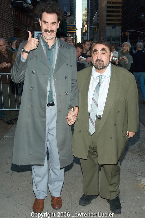 Sacha Baron Cohen as Borat Sagdiyev and Ken Davitian as Azamat Bagatov