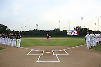 STANFORD, CA - FEBRUARY 20:  National Anthem during Stanford's season opener game against the Vanderbilt Commodores on February 20, 2009 at Sunken Diamond in Stanford, California.