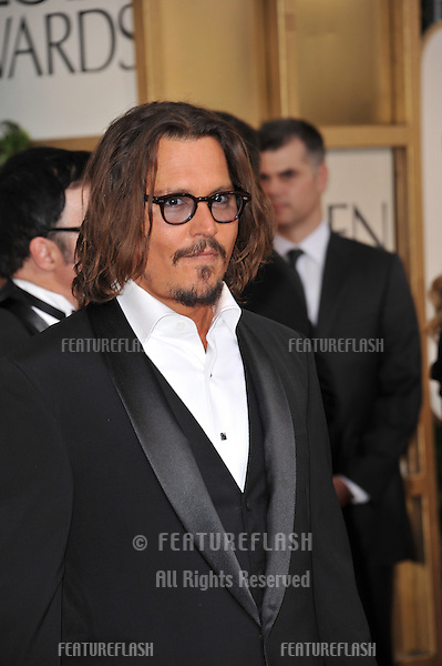 Johnny Depp at the 68th Annual Golden Globe Awards at the Beverly Hilton Hotel..January 16, 2011  Beverly Hills, CA.Picture: Paul Smith / Featureflash