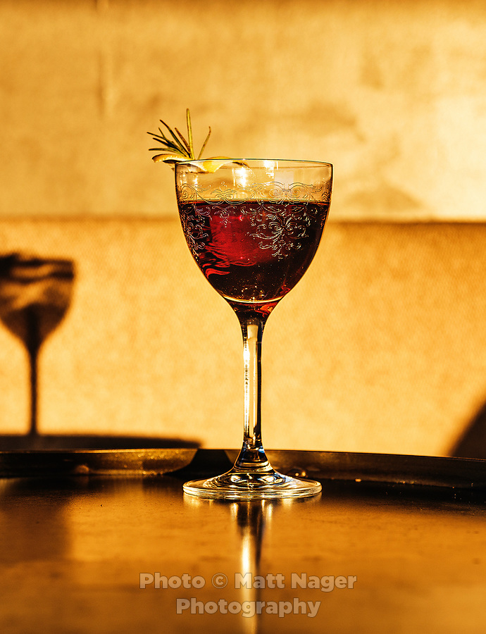 A Spanish scaffa cocktail at El Five restaurant in Denver, Colorado, Wednesday, October 18, 2017. <br /> <br /> Photo by Matt Nager