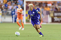 Lianne Sanderson (10) of the Orlando Pride brings the ball up the field against the Houston Dash on Friday, May 20, 2016 at BBVA Compass Stadium in Houston Texas. The Orlando Pride defeated the Houston Dash 1-0.