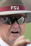 Florida State head coach Bobby Bowden directs his Seminoles in a 41-22 defeat of the Clemson Tigers lead by his son, head coach Tommy Bowden, in Tallahassee September 25, 2004.   (Mark Wallheiser/TallahasseeStock.com)