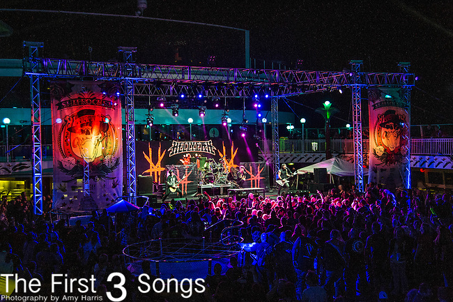 Hell Yeah performs during the 2016 ShipRocked Cruise. ShipRocked set sail January 18-22, 2016, from Miami to Costa Maya, Mexico on the Norwegian Pearl.